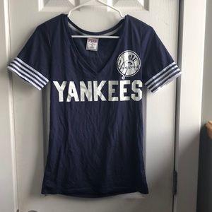 PINK Victoria's Secret Yankees Baseball Tee